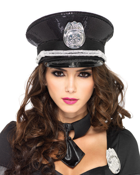 Hat Sequin Cop