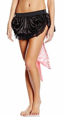 Lace Trimmed Satin Bustle Skirt
