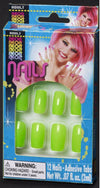 Finger Nails Neon Green