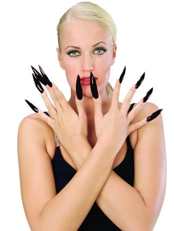Sculpted Horror Finger Nails Black
