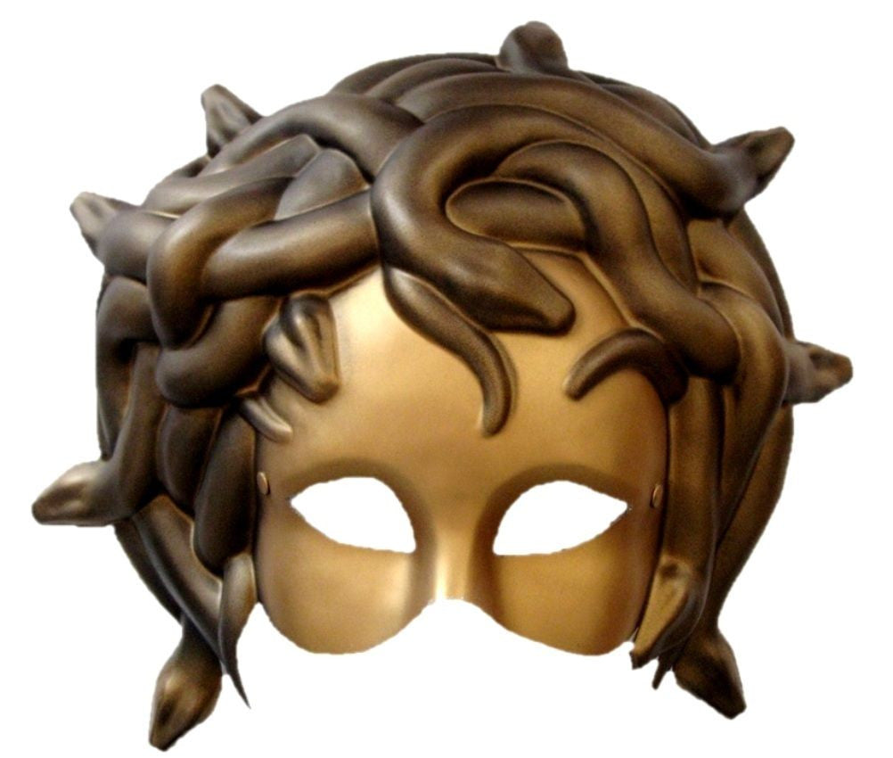 Gold Medusa Mask with Elastic
