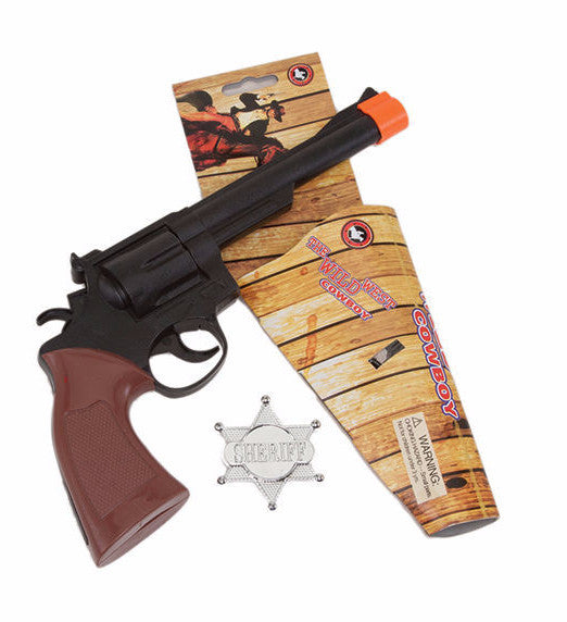 Cowboy Gun with Sheriff Badge