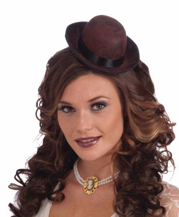Steampunk Mini Derby Hat Brown