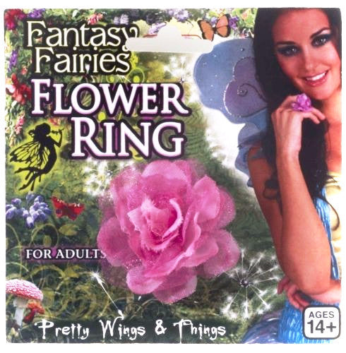 Fantasy Fairy Flower Ring Pink