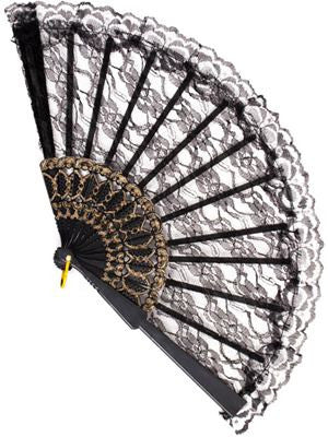 Lace Fan Black