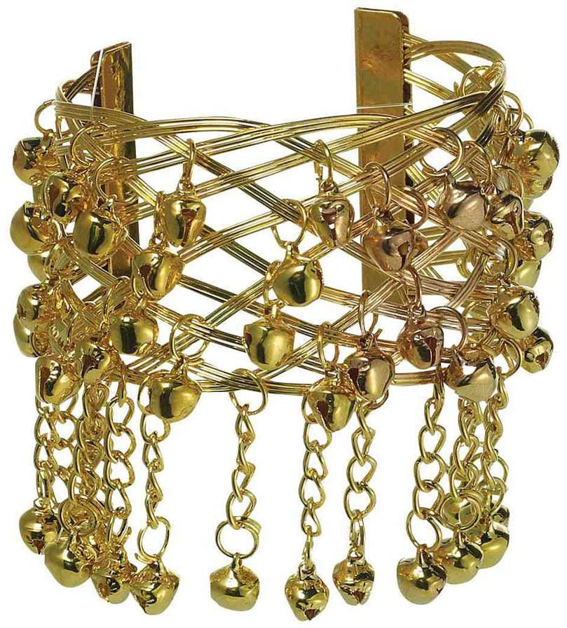 Gold Mystic Fortune Teller Bracelet with Bells