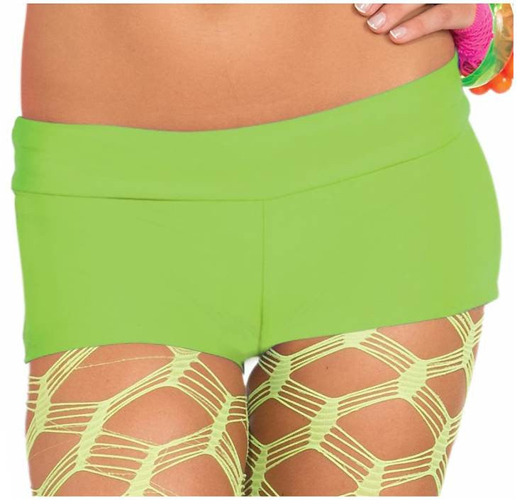 Neon Solid Booty Short Green