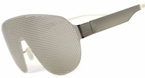 Glasses Silver Metallic Mesh