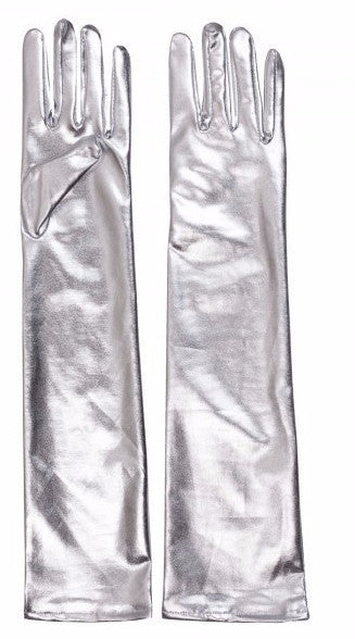 Gloves Silver Lame