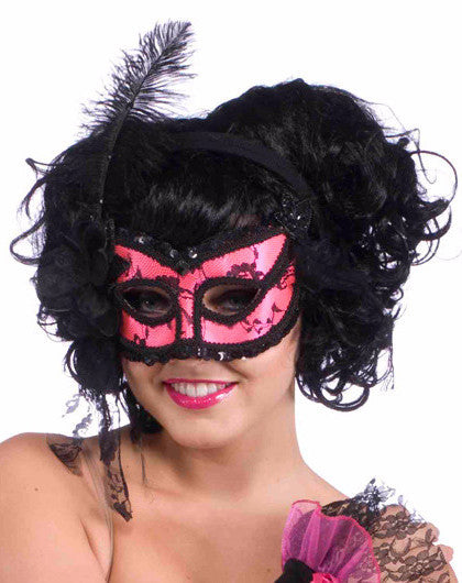 Pink Burlesque Mask
