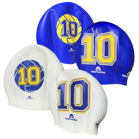 Team Elite Reversible Water Polo Silicone Swim Cap - Number 10