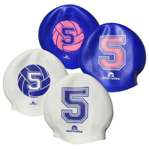 Team Elite Reversible Water Polo Silicone Swim Cap - Number 5