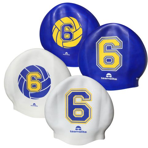 Team Elite Reversible Water Polo Silicone Swim Cap - Number 6