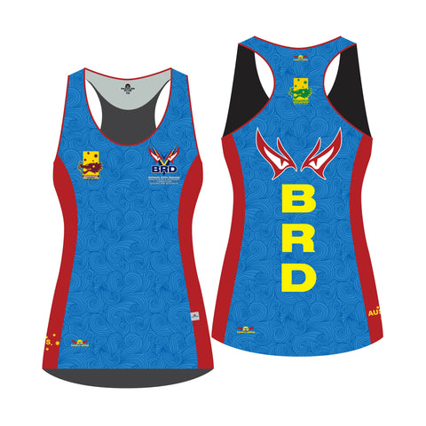 Brisbane River Dragons - Official Dragon Boat Racing Ladies Sublimated Racer Back 'Paddler Plus'* Singlet