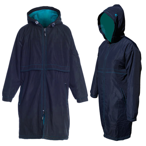Team Elite Deck Parka - Navy/Aqua