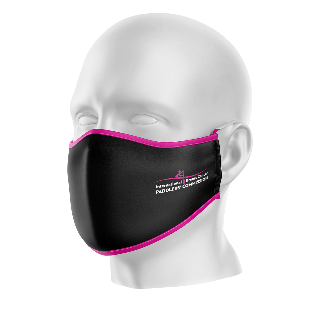 IBCPC Black Reusable Face Mask - Adult