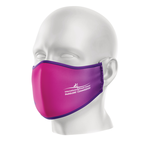 IBCPC Pink/Purple Reusable Face Mask - Adult