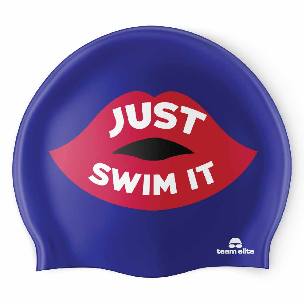 Just Swim It Seamless Silicone Swim Cap - Blue