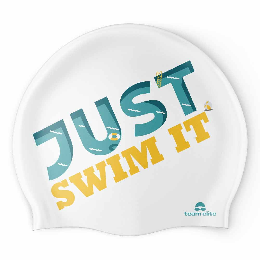 Just Swim It Seamless Silicone Swim Cap - White