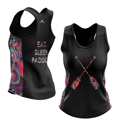 Eat Sleep Paddle Racerback Singlet