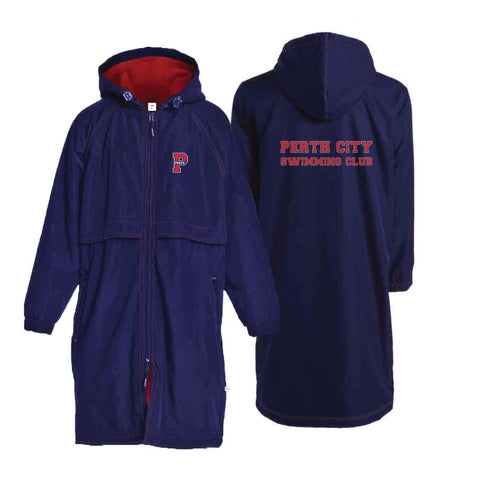 Perth City Swimming Club Deckcoat - Navy/Red