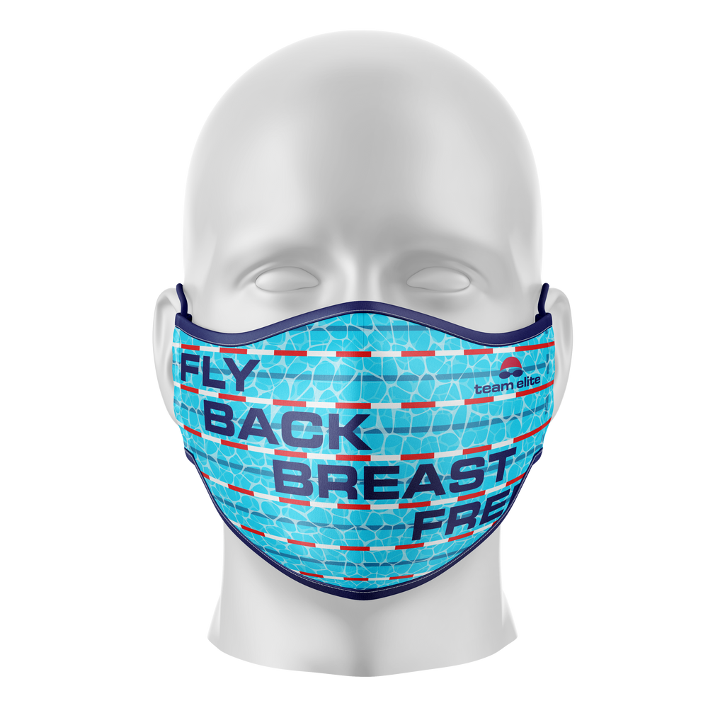 Swim Strokes Reusable Face Mask - Kids/Adults