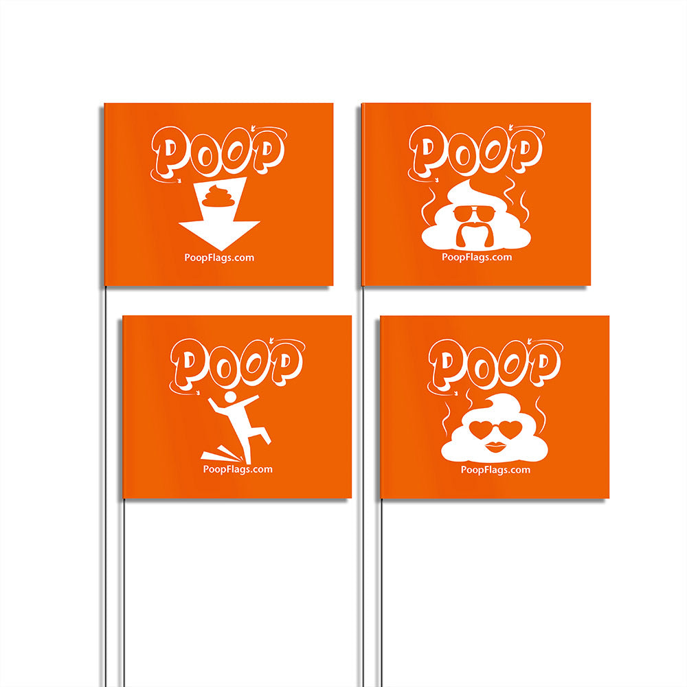 Variety Pack of Dog Poop Flags