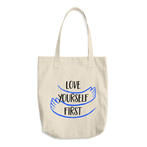 Love yourself first - Cotton Tote Bag