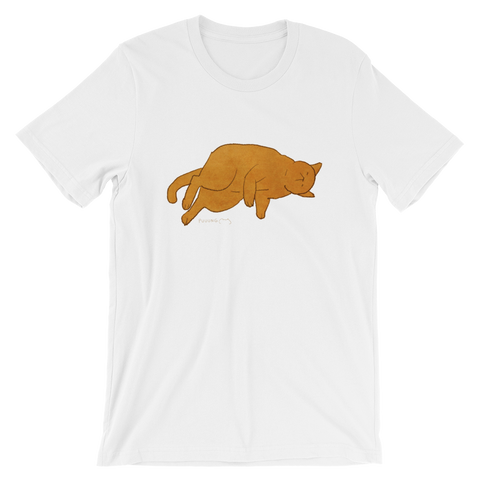 Cute Cat Garfield #02 by Puuung - Short-Sleeve Unisex T-Shirt