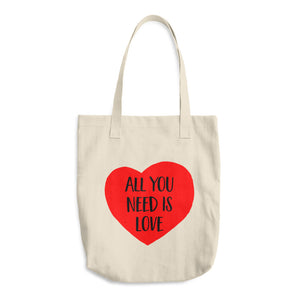 All you need is love - Cotton Tote Bag