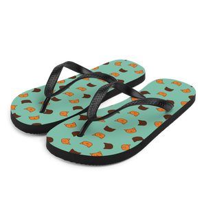 Garfield print beach slippers by Puuung - Green Flip Flops