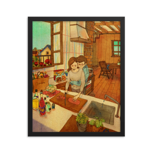 What's for lunch today? by Puuung - Framed Poster (in)