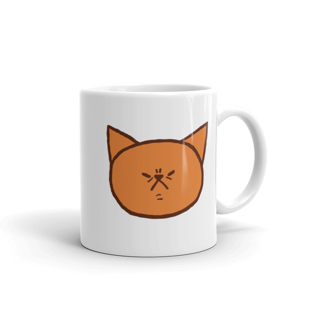 Cute Garfield frown by Puuung - Mug
