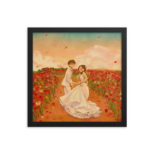 The flower way by Puuung - Framed Poster (in)