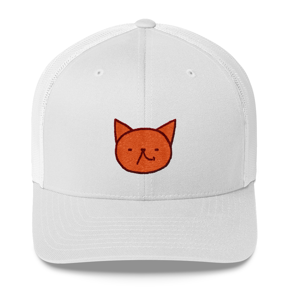 Cute Garfield laugh by Puuung - Trucker Cap