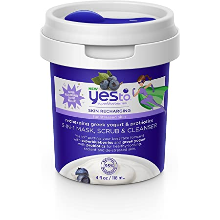 Blueberry Refill Yogurt and Probiotics 3-in-1 Mask, Scrub & Cleanser