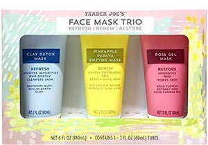 Face Mask Trio Refresh Renew Restore - Trader Joe's - YouFromMe