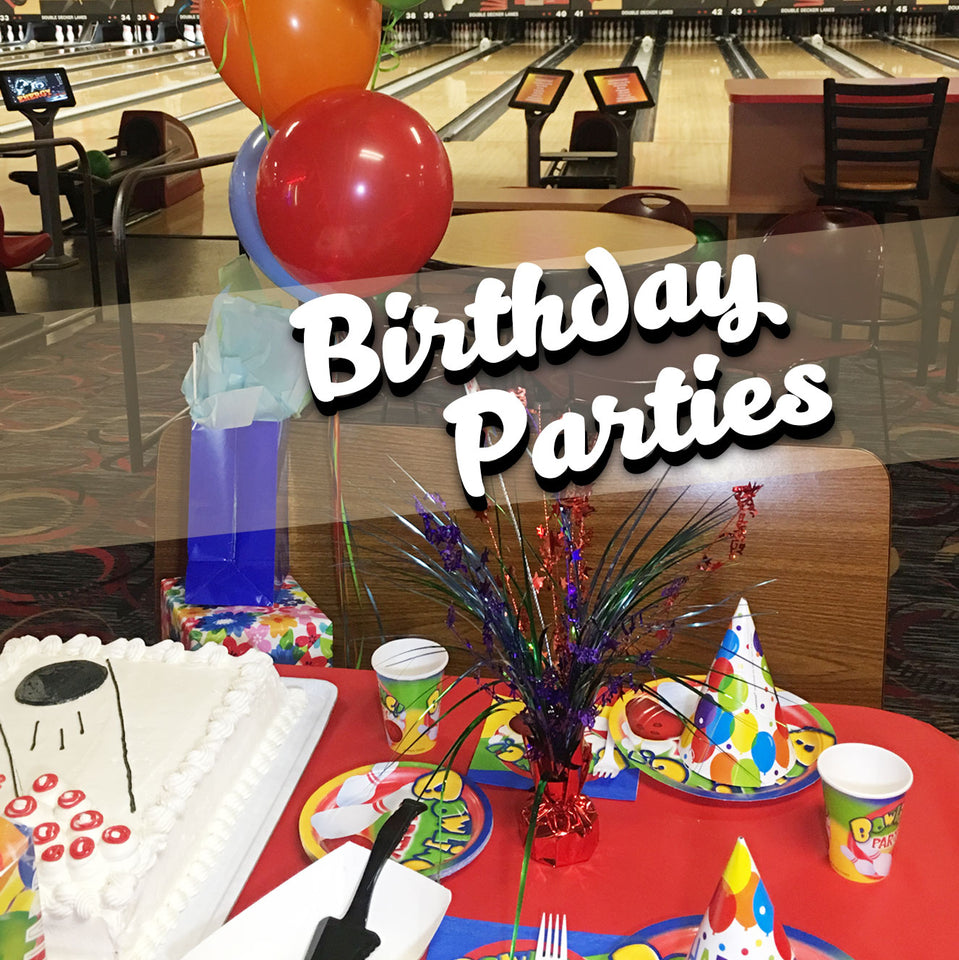 Kids Birthday Parties at Double Decker Lanes