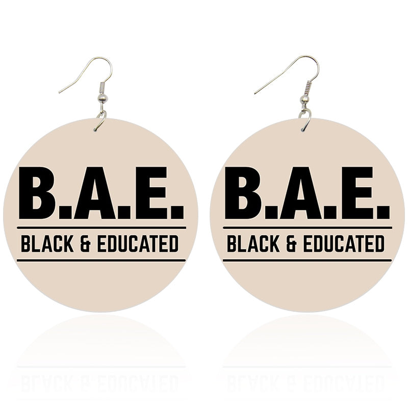 Black and Educated - Afrikaanse oorbellen