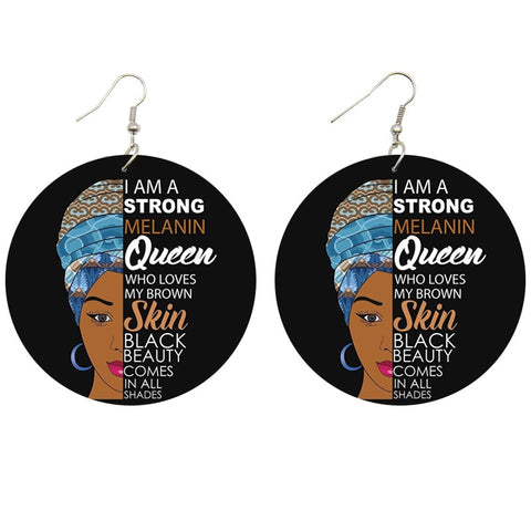I am a strong melanin Queen - Afrikaanse oorbellen