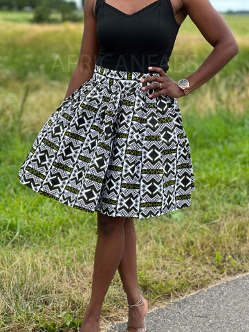 African Print Purple / Blue Crop Top
