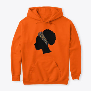 Hoodie / Sweater (Unisex) - Head with Bogolan Headband (Multiple Colors)