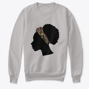 Kids Crewneck Sweatshirt - Head with Bogolan Headband