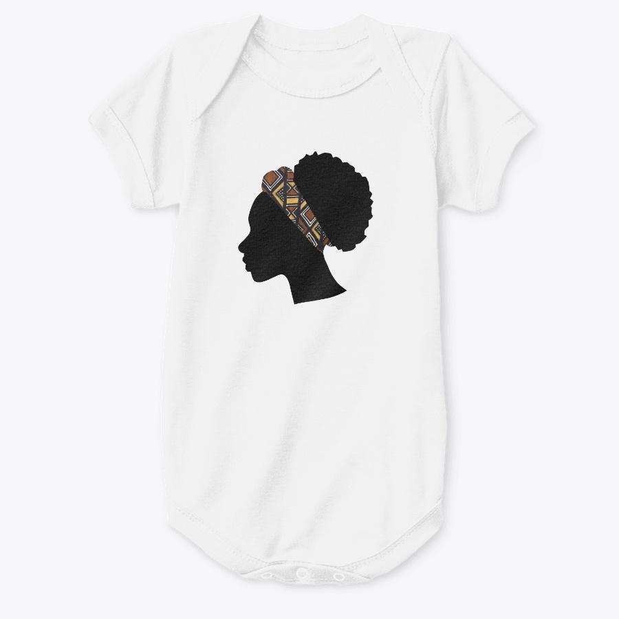 Baby Onesie - Head with Bogolan Headband (Multiple colors)