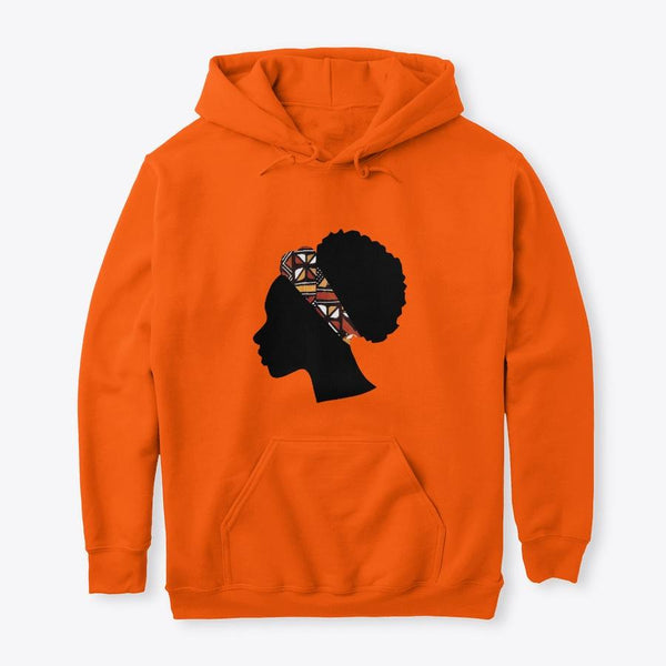 Hoodie / Sweater (Unisex) - Head with Red Bogolan Headband (Multiple Colors)