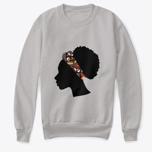 Kids Crewneck Sweatshirt - Head with Red Bogolan Headband