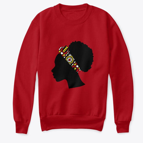 Kids Crewneck Sweatshirt - Head with Red Samakaka Headband (Multiple Colors)