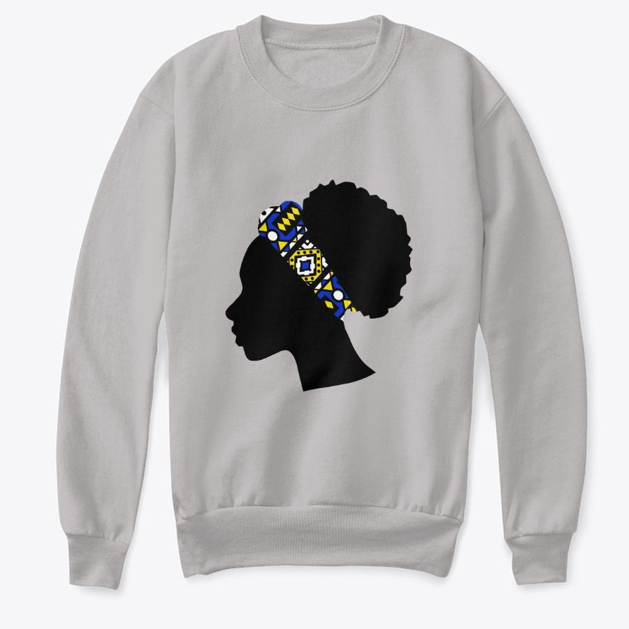 Kids Crewneck Sweatshirt - Head with Blue Samakaka Headband (Grey & Blue)