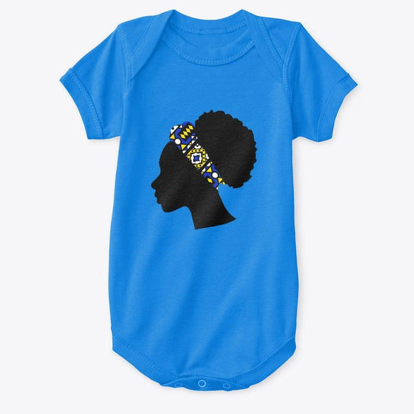 Baby Onesie - Head with Blue Samakaka Headband (Multiple Colors)