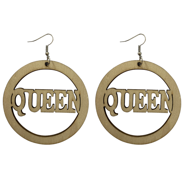 African earrings, wooden earrings | QUEEN